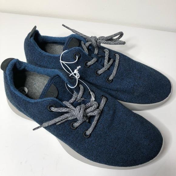 Nwob Rare Allbirds Blue Wool Sneakers